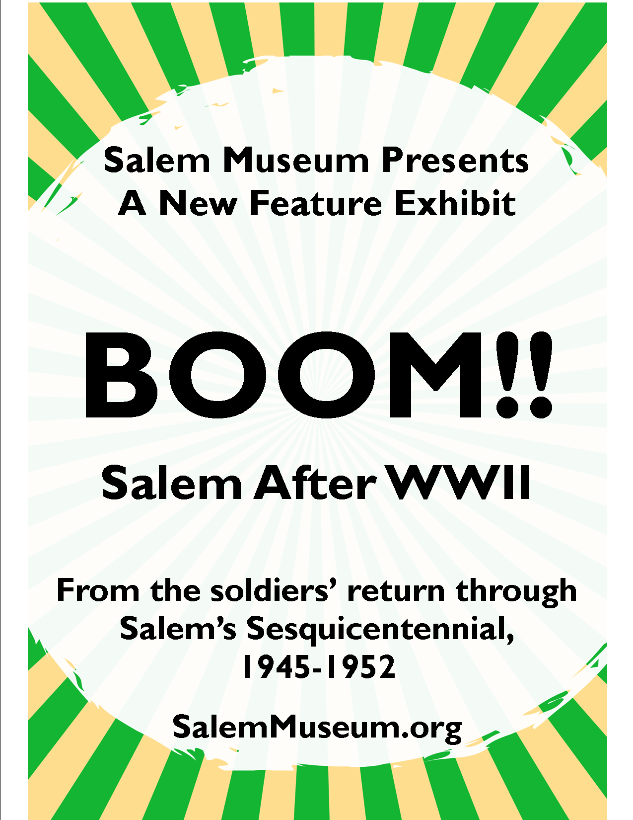 BOOM! Salem After WWII:  Announcing a new feature exhibit at the Salem Museum